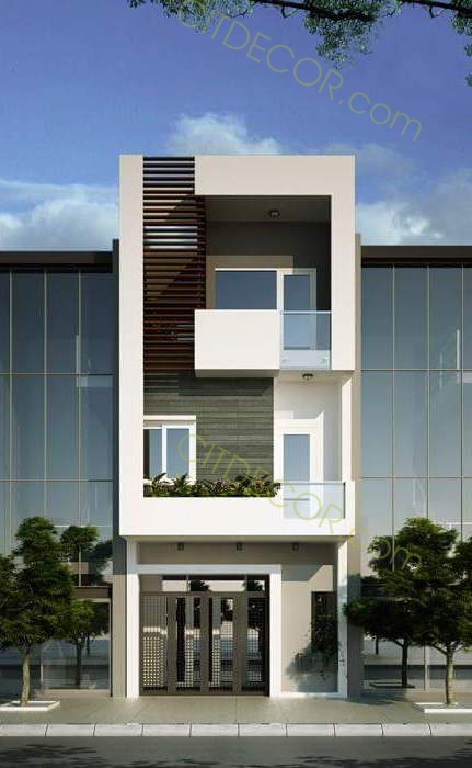 Mẫu thiết kế nhà phố 3 tầng mặt tiền để kinh doanh