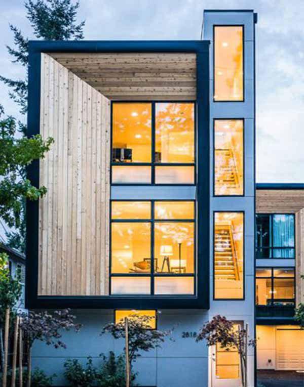 Mẫu thiết kế nhà phố ấn tượng vô cùng đặc biệt nhờ mặt tiền