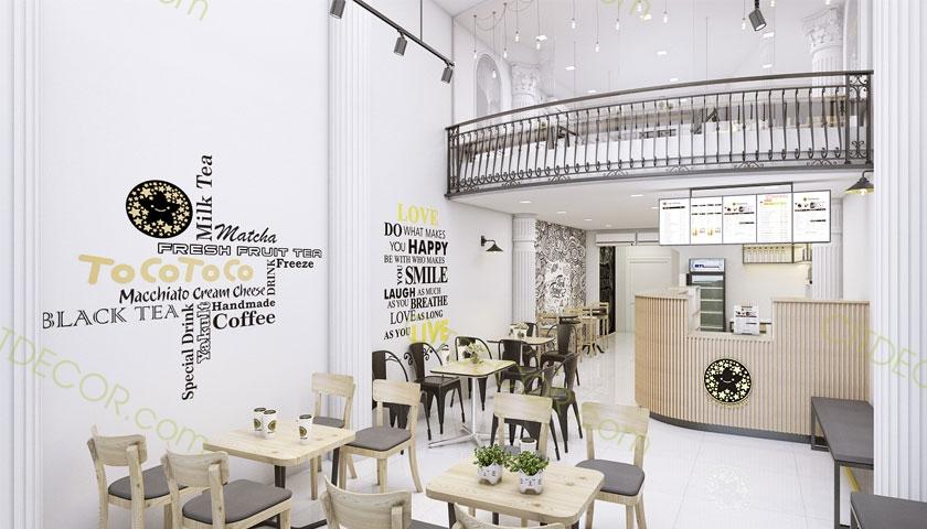 Thiết kế quán trà sữa phong cách Hàn Quốc hợp túi tiền siêu dễ thương