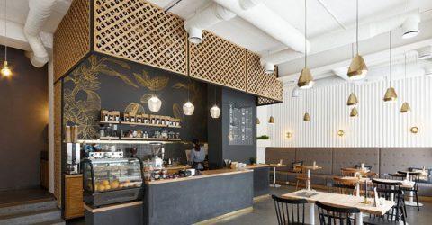 Mẫu thiết kế quán cà phê Milano hè phố đẹp theo phong cách Châu Âu