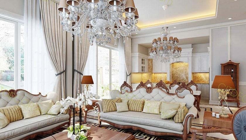 Đẹp lộng lẫy với thiết kế biệt thự Châu Âu theo phong cách tân cổ điển