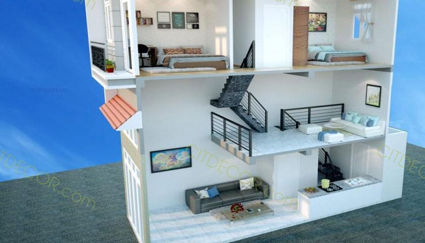 Xu hướng thiết kế tầng lửng cho mẫu thiết kế nhà phố hiện đại