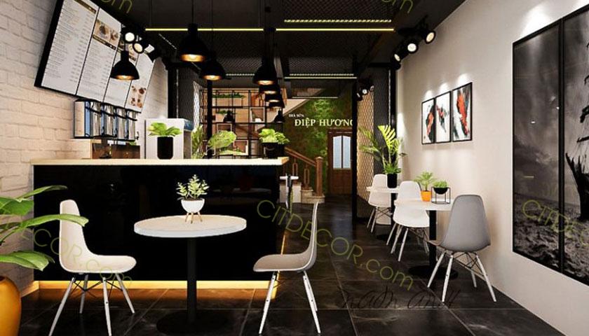 Thiết kế quán trà sữa có diện tích nhỏ ấn tượng và tinh tế