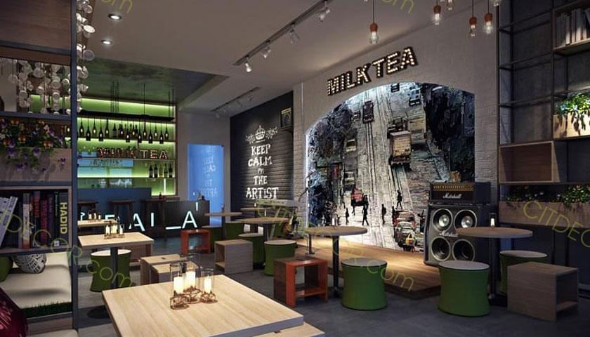 Mẹo thiết kế quán trà sữa tuy đơn giản nhưng cực kỳ hút khách