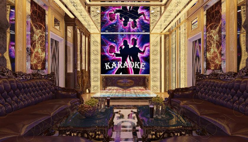 Thiết kế phòng karaoke gia đình theo phong cách cổ điển