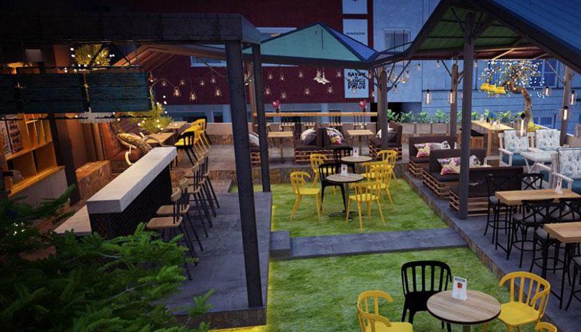 Mẫu thiết kế quán cafe sân thượnMẫu thiết kế quán cafe sân thượng phong cách hiện đạig phong cách hiện đại