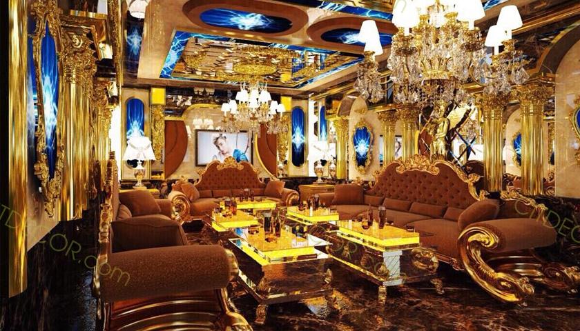 Sự khác nhau giữa thiết kế quán karaoke phong cách hoàng gia và tân cổ điển?