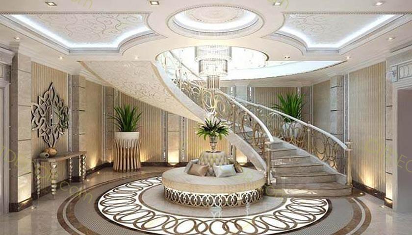 Những nguyên tắc cần biết khi thiết kế cầu thang biệt thự hiện đại
