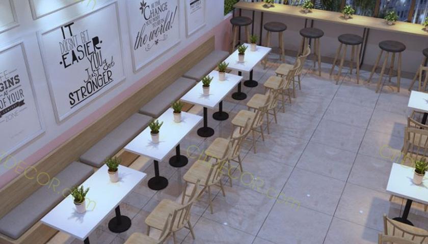 Những mẫu thiết kế quán trà sữa có diện tích nhỏ cho năm 2019