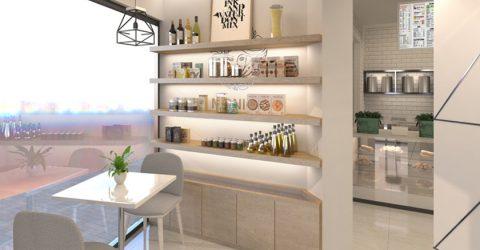 Tiêu chí để thiết kế quán trà sữa đẹp và hút khách ngay mặt tiền đường
