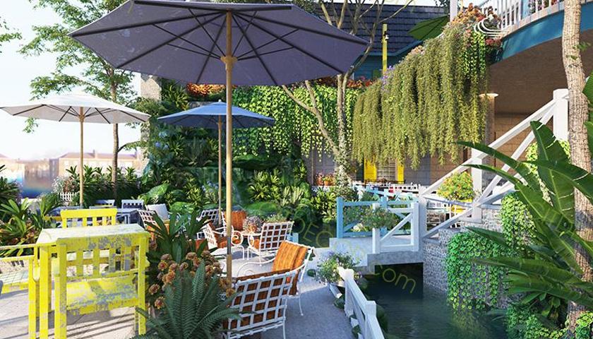 Những lưu ý để thiết kế quán cafe sân vườn sao cho thật bắt mắt